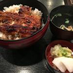 市松 - ランチのサービス鰻丼(1400円)