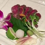 福の花 - 長萩和牛タタキ