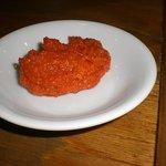 ちゃーしゅうや 武蔵 - 別皿で 辛味噌のサービス