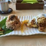 フラワリッシュ - 精進唐揚げと玄米お赤飯