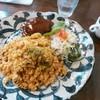 レストラン木木 - 料理写真:ドライカレー&ハンバーグ