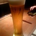 Yakitorisuehirogari - 一番搾り生ビール:550円