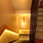 銀座 喰い切りひら山 - 階段を下りて入り口へ