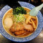 55942166 - 麺屋 青山(味玉らーめん850円 ※鶏ガラ醤油スープ)