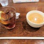 セゾン - スープとドリンク(アイスティーをチョイス)2016.09.10