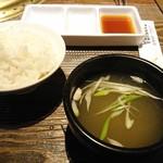 55946717 - ご飯と味噌汁