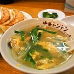 中華トントン - ジャンボびっくり餃子セット(玉子スープ)