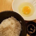 焼鳥酒場 本田商店 人形町本店 - 〆のTKG(玉子かけごはん)(299円)