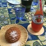 Pancafe ao - シュークリームとブラッドオレンジ微炭酸