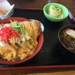 55956788 - カツ丼と蕎麦のセット
