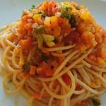 カフェベビーティアーズ - 料理写真:2016.9.10 パスタランチ 野菜のトマトソース