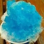 まんとく家 - かき氷(ブルーハワイ・アップ)