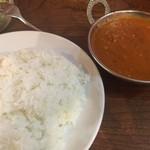 エベレスト キッチン - D SET:日替りカレー(キーマカレー+ゆで卵) ¥790