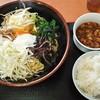 麺処よっちゃん - 料理写真:よっちゃん@北府中 上海油そば・大盛り+Bセット(ミニ麻婆豆腐・半ライス)