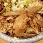 肉麺 金の豚 - ミニ豚ねぎ丼