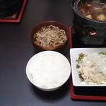 55971766 - 白米と蕎麦