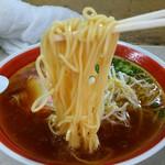 天神そば - 低加水目なストレート中細麺