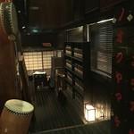 信州長屋酒場 - 1階席に案内されます。