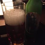信州長屋酒場 - さっぱりした黒ビール、 色合いも控えめな黒ですね