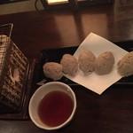 信州長屋酒場 - 蕎麦がきの網焼き490円