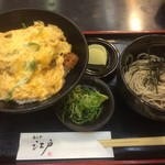 江戸そば - かつ丼&ミニ蕎麦(2016,7)