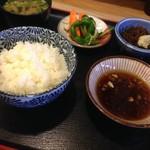 55989403 - 天ぷら定食、最初の配膳♡