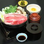 つきじ植むら - 平日ランチ 牛鍋定食