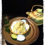 菜 - 松茸天ぷら   土瓶蒸し