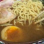 竹屋 - 醤油らあめん スープアップ