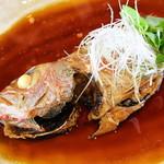 新鮮な魚介類と地酒専門店 おやじの隠れ家 魚武 - のどぐろ煮付