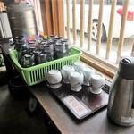 宮の蕎麦 兎屋 - お茶とそば湯はセルフサービス