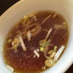 56002371 - カレーチャーハンについてくるスープ。うまい!!!
