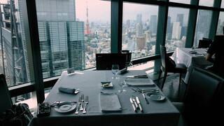 フィッシュバンク トーキョー - この日に座ったテーブル席