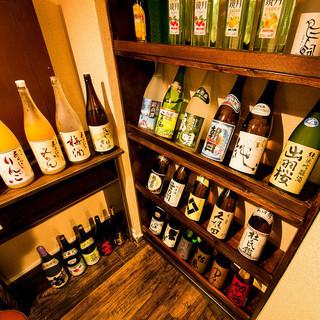 充実な品揃え。こだわりの日本酒・焼酎◎
