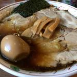 56004744 - ちゃーしゅーわんたん麺大盛り+煮玉子。お値段1,550円也w 満足です