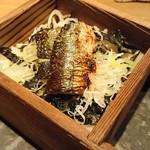 56005338 - 秋刀魚のせいろ蒸し寿司