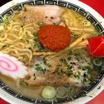 赤湯ラーメン 龍上海 - 赤湯からみそ大盛り。今日のチャーシューは当たり。チャーシューメンにすればよかったw 2016年8月