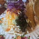 珈琲美人 文月 - ホットタマゴサンドの野菜