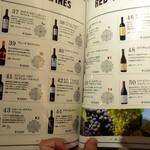TEPPAN 29BAR BARUMICHE - ボトルワインメニューの一部