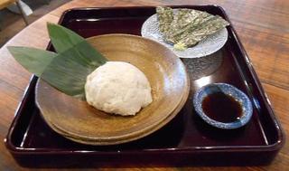 手打ち蕎麦 仙太郎 - そばがき 海苔付 山葵醤油でいただく