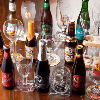 世界遺産のベルギービール!知識豊富なスタッフへお尋ね下さい!
