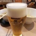 ガガナ ラーメン - プレモル 190円 おかわり(*´∇`*)