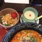 56026012 - サラダ棒棒鶏&杏仁豆腐