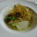 56026304 - スズキのポアレ。冬瓜のスープ仕立て。