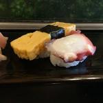 みやこ鮨 - たまご・蛸
