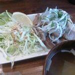 粉右衛門 - 白ネギ塩ダレ牛カルビ定食