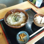 兼子商店 - 稲庭うどんセット(冷たいうどん➕舞茸ごはん)800円