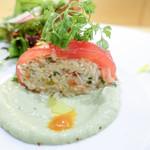 saveur - トマトと蟹
