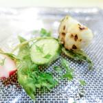 saveur - 野菜と帆立