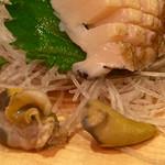 魚盛 - アワビの肝